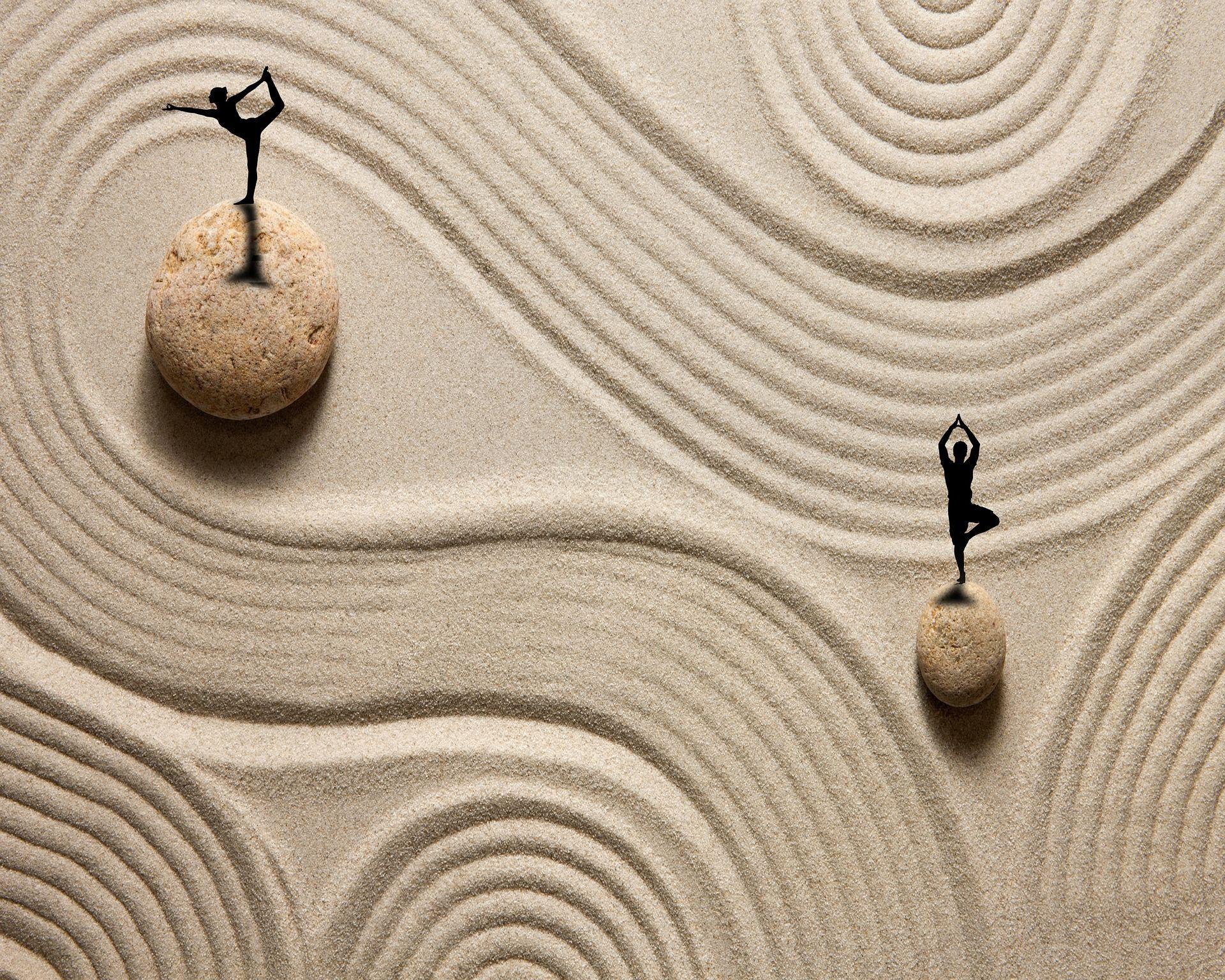 Spiraalikuviot hiekassa