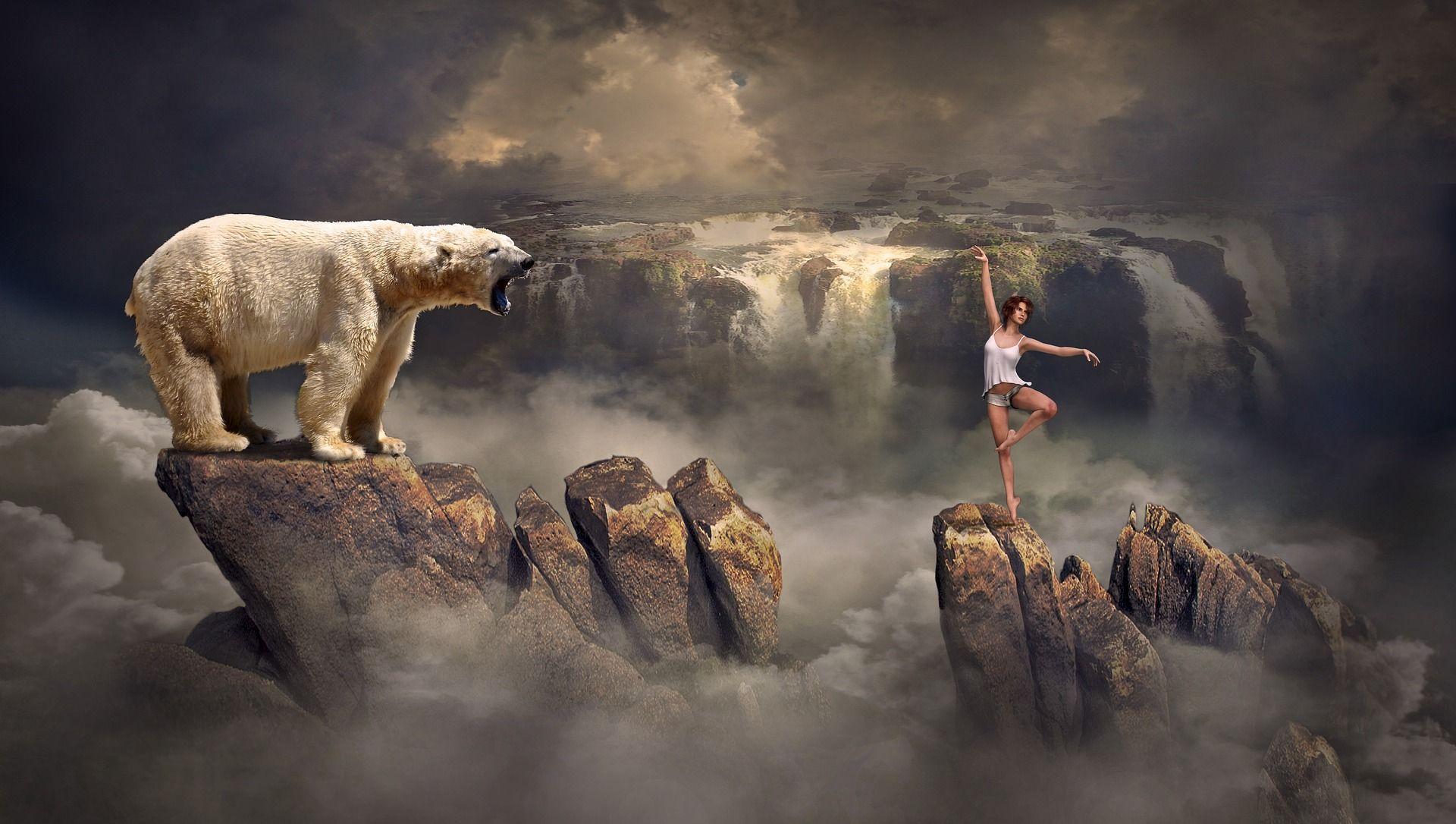Tanssija ja jääkarhu
